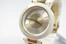 DKNY NY2289 Stanhope Gold-Tone/White Ceramic Watch