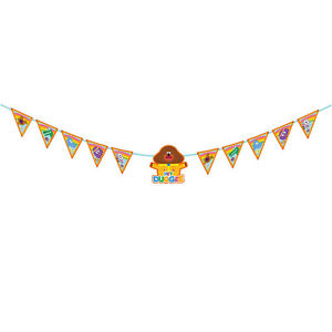 Hey Duggee Paper Banner Kids Birthday Party Bunting 3 Metre Garland Hey Duggee