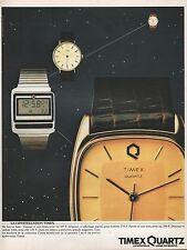 Publicité Montre TIMEX Quartz Watch photo vintage print ad  1982 -4j