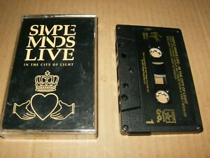 Simple Minds Live In The City Of Light, Cassette, Used, Canada.