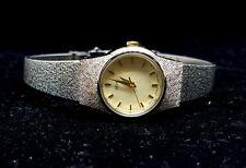 Vintage Seiko Ladies V401-1819 Stainless Steel Gold Tone Dial Quartz Watch