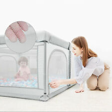 Baby Safety Playpen Play Fence Foldable Toddler Yard gray new 59*70.8*26.7inch