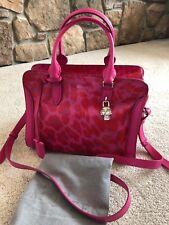 New Authentic alexander mcqueen skull padlock Leather bag In Pink Leopard