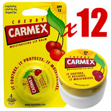Pack of 12 - Carmex Moisturising Lip Balm for Dry Lips Pot - Cherry
