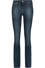 NEW + TAGS * 7 FOR ALL MANKIND * STRAIGHT LEG FADED JEANS SZ 29 x 33L RRP £190