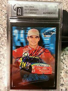 1997 Ultra #12 certified by GAI autographed JEFF GORDON