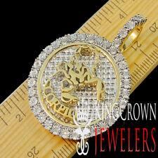 Real Diamond Scorpio Zodiac Sign Pendant Pave Charm 10K Yellow Gold Finish 2''