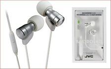 JVC HA-FRD60 WHITE Micro HD In ear Headphones With Mic Remote Switch /Brand New
