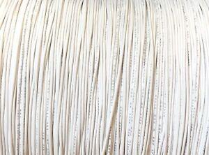 WHITE 26 AWG Gauge Stranded Hook Up Wire 25 FT UL1007 300 Volt USA