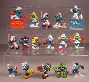 Vintage Smurfs 16 Smurf Toys PVC Figures Smurfette 1970's-1980's Peyo Schleich