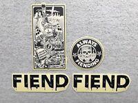 NEW Fiend Garrett Reynolds V2 Signature BMX Frame Sticker Black & White Stickers
