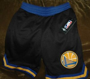 Golden State Warriors basketball shorts YOUTH large New with tags Black NBA