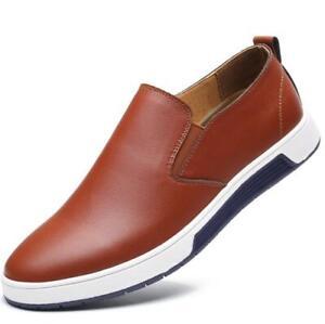 British Men Casual Faux Leather Shoes Lace-up Hollow Out Breathable Shoes Size L