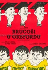 A Chump at Oxford Laurel and Hardy Yugoslavian rerelease poster