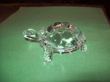 Very Clear Art Glass Reptiles- Turtle Figurine