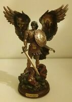 Bradford Exchange St MICHAEL TRIUMPHANT WARRIOR Bible Religious Angel Figurine