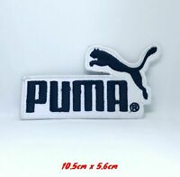 Puma Sports logo black badge Iron Sew on Embroidered Patch #1179