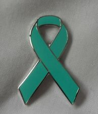 *NEW* End Sexual Assault / Rape Awareness ribbon enamel badge / brooch. Charity.