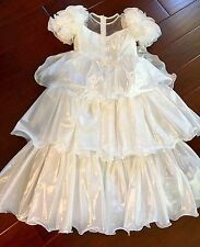 DAVID'S BRIDAL Santa Monica Princess Bridal Wedding FLOWER GIRL DRESS Size 6