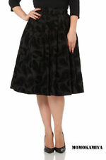 Polyester A-line Party Regular Size Skirts for Women