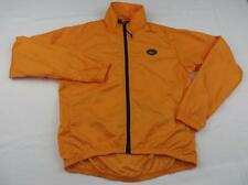 REI Mens Hi Viz Orange Waterproof Rain Jacket Sz Small Fall Windbreaker Running