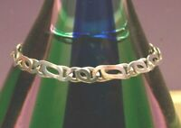 "ITALY 925 Sterling Silver Bracelet INTERLOCKING Fancy Link Bracelet 7"" VINTAGE"