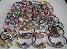 Assorted color finish Cable Band Ladies/Girl's Bangle Cuff Fashion Wrist Watch