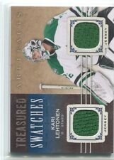 2014-15 UD ARTIFACTS KARI LEHTONEN TREASURED SWATCHES JERSEY TS-KL STARS NM/M