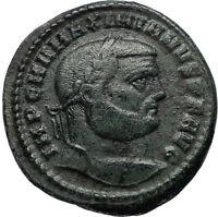 MAXIMIAN Genuine Ancient 302AD Antioch Follis Authentic Roman Coin GENIUS i67056