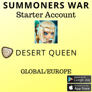 Summoners War Light Desert Queen Isis Starter Account