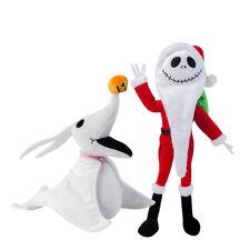 2Pcs Disney Nightmare Before Christmas Zero Jack Santa Poseable Plush Toys Xmas