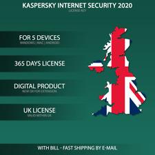 Kaspersky Internet Security 2020 UK [5PC / 5PC Devices / KEY / ESD ]