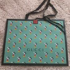GUCCI Disney Mickey Mouse Collaboration Paper Gift Shopping Bag New