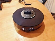 Philips AS111/37 Docking Speaker System iPod iPhone Dock W/ Alarm Clock