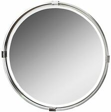 "Contemporary Modern 30"" Round Wall Mirror 