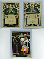 (3) 2010-2011 CROWN ROYALE AARON RODGERS KINGS OF THE NFL INSERT LOT
