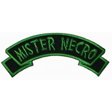 """""""Mister Necro"""" Tag Zombie Horror Kreepsville Embroidered Iron On Applique Patch"""