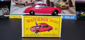 MATCHBOX MOKO LESNEY 3.4 LITRE JAGUAR No. 65 BPW w/ BOX