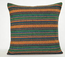 Agnes Wide Stripe Green Pillow Classic Case Ikat Aztec Cushion Cover Home Decor