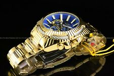 "Invicta Men 50mm Bolt ""Blue Devil"" Chrono 18K Gold Plated Stainless Steel Watch"