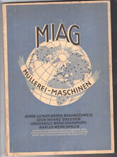 Miag milling machines, Manual of Miller's, Braunschweig 1930/36