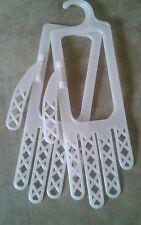 2 Vintage Pastel Pink Plastic Glove Stretcher Hangers Dryer Hand Form Hangers