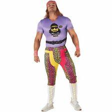 Licenced WWE Macho Man Randy Savage Wrestler Fancy Dress Wrestling Costume