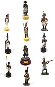 Lot de 10 Soldats de Plomb 1er Empire Napoléon Ney Tsar Alexandre 1/32 60mm LS23