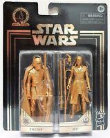 "Star Wars Kylo Ren & Rey 4"" Figure Commemorative Edition Skywalker Saga Gold"