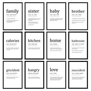 Funny Word Definition Prints Dictionary Wall Art - Unframed Posters