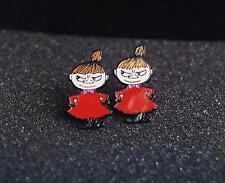Moomin littlemy girl metal earring ear stud earrings studs one pair