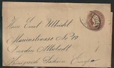 #W283 Washington 2c Entire Wrapper-St. Louis to Dresden, Germany