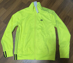 NEW Adidas Alexander Wang Jacquard Track Jacket ALT  Dimension Neon Yellow Small