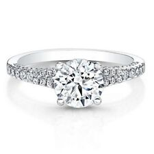 0.86 Ct Round Diamond Engagement Rings Solid 14K Solid White Gold Size M N O P Q